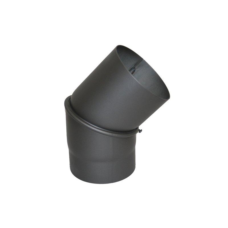 Ofenrohr Winkel 15° DN 150 mm grau Bogen Knie Rauchrohr Stahl Rohr Kamin Neu