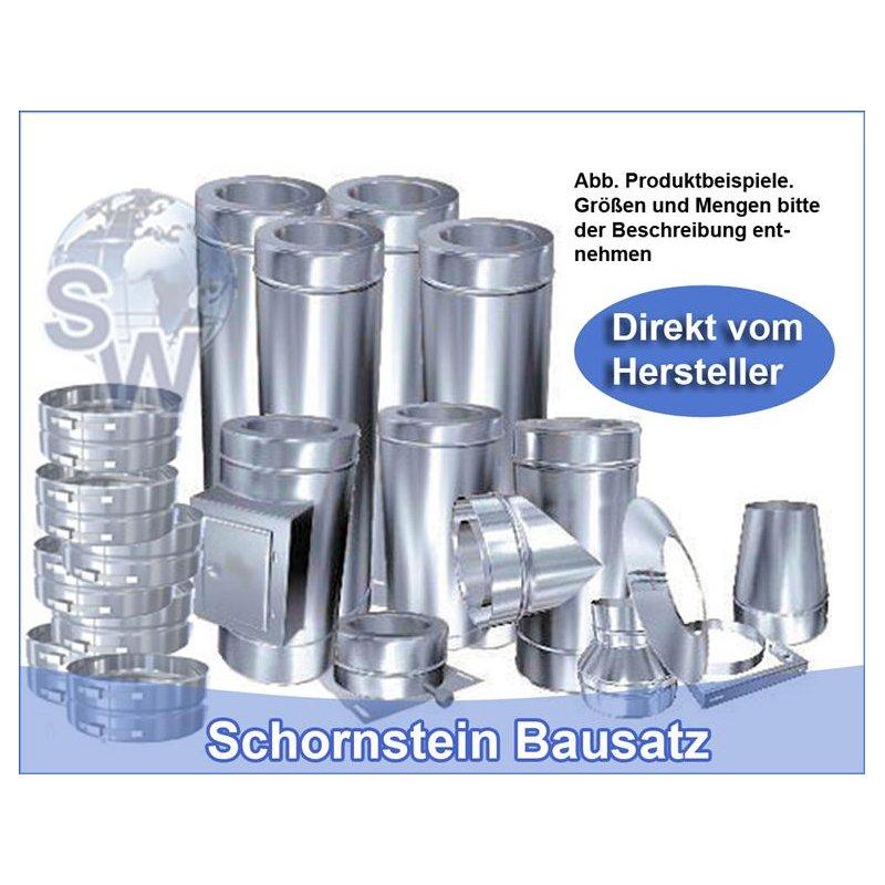 Edelstahlschornstein Schornstein Bausatz Konfigurator DW 180 doppelwandig Kamin