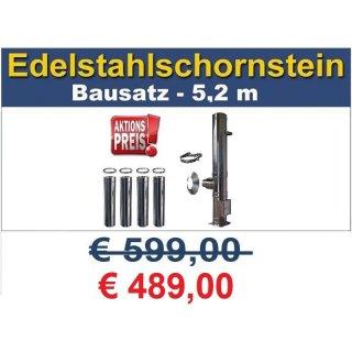 edelstahlschornstein bausatz doppelwandig dw 150 5 2m 399 00 euro. Black Bedroom Furniture Sets. Home Design Ideas